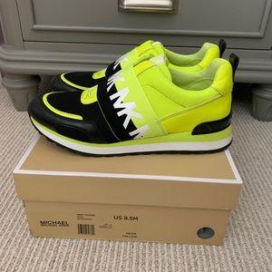 Michael Kors Teddi neon trainer sneakers 8.5